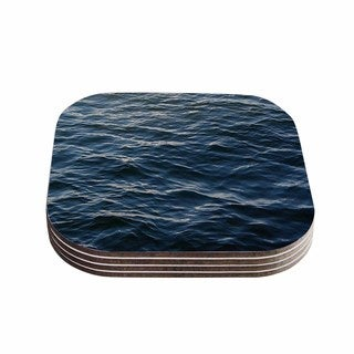 Suzanne Carter 'Deep Water' Nautical Blue Coasters (Set of 4)