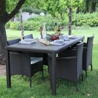 angelo:HOME 5-Piece Rattan Dining Set - Brown