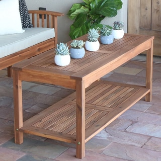 Acacia Wood Patio Coffee Table - Brown