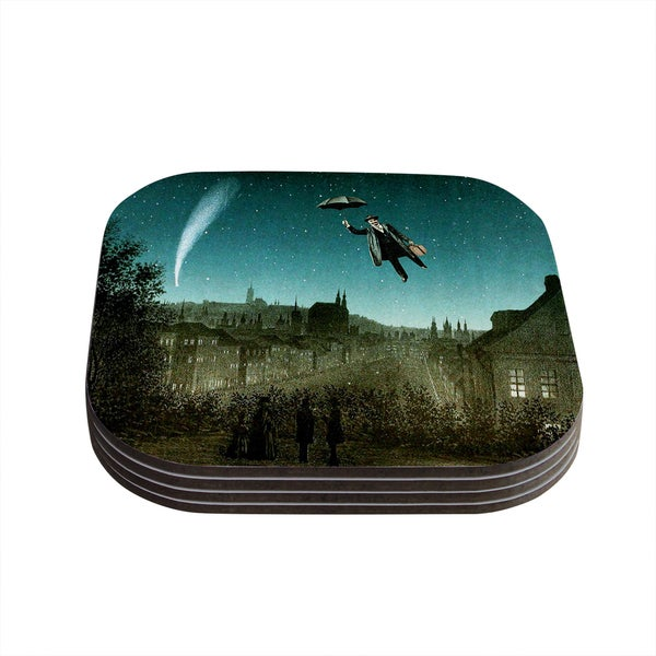 Kess InHouse Suzanne Carter 'The Departure' Coasters (Set of 4)