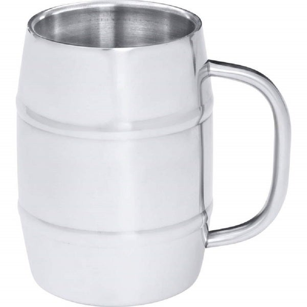 Arctic Blast KTBMUG4 Stainless Steel 34-ounce Barrel-Shaped Beer Mug KTBMUG4