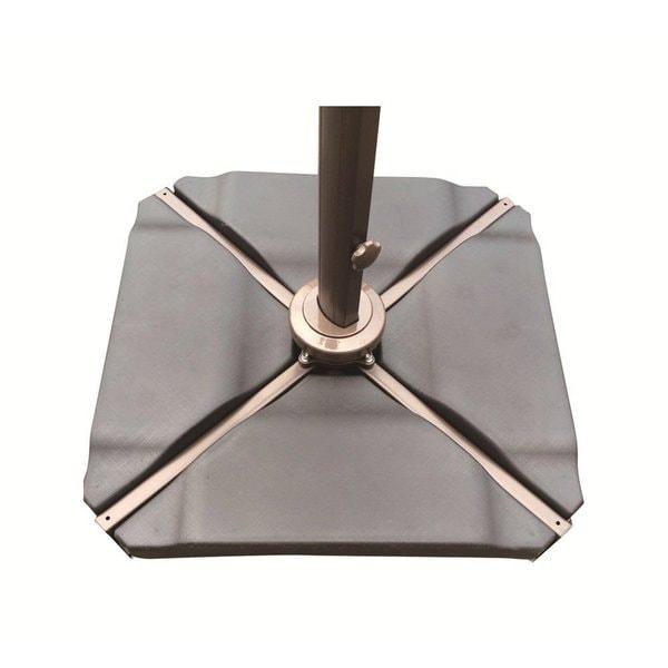 Abba Patio Black Plastic Umbrella Base Plate Set For