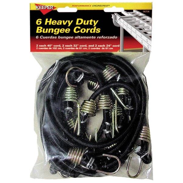 Keeper 06356 6 Piece Heavy Duty Bungee Cord Multi Pack