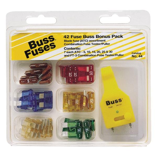 Bussman NO.44 42 Piece Buss ATC Blade Fuses Bonus Pack