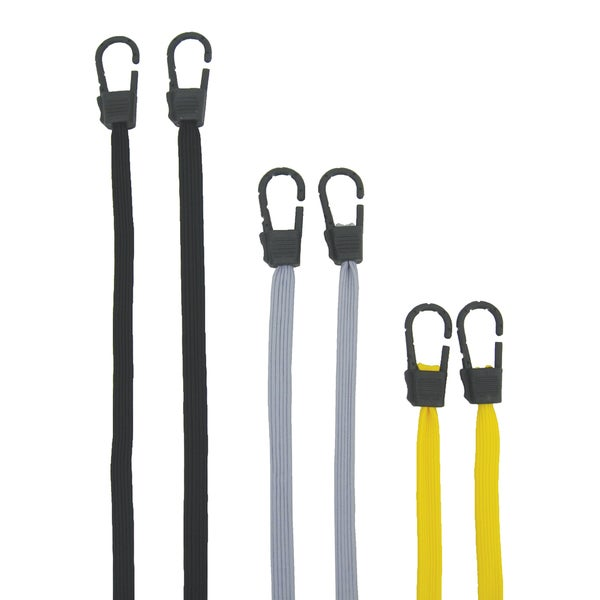 Pro Grip 670600 Flat Bugnee Cord Assorted Colors 6-count