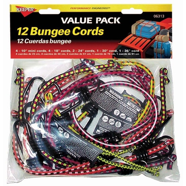 Keeper 06313 12 Piece Multi Pack Bungee Cords