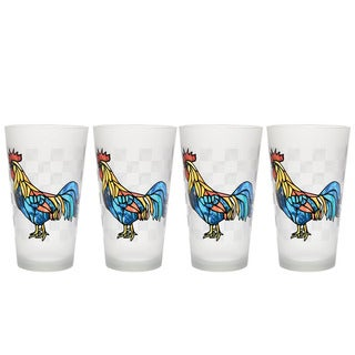 Culver 16-ounce Rooster Set of 4 Pint Glasses