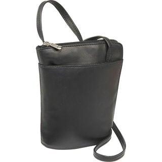 LeDonne Leather L-zip Mini Crossbody Handbag