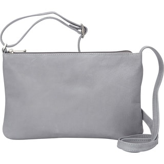 LeDonne Apricot Leather Crossbody Handbag