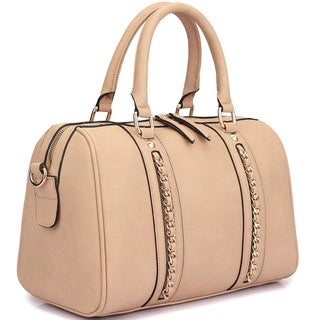 Dasein Faux Leather Medium Satchel Shoulder Bag