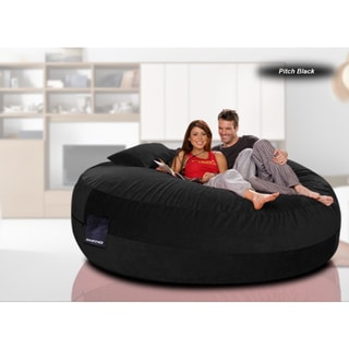Maximus Cord Red/Black/Chocolate Brown Denim Beanbag