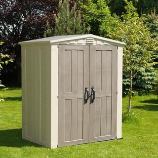 Keter Factor Large 6 x 3 ft. Resin Outdoor Backyard Garden Storage Shed
