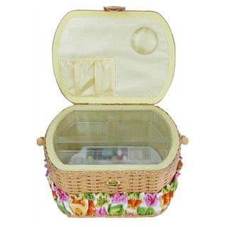 Michley Sewing Basket With 41-piece Sewing Kit and ZDML 2 Handheld Sewing Machine