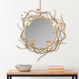 Safavieh Gold Wreath Antique Gold Mirror