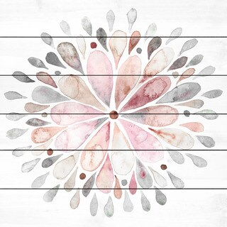 Marmont Hill 'Fading Flower' Print on White Wood