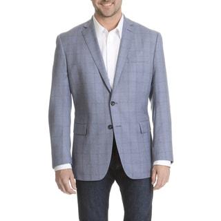 Daniel Hechter Men's Windowpane Plaid Fine Wool Sport Coat