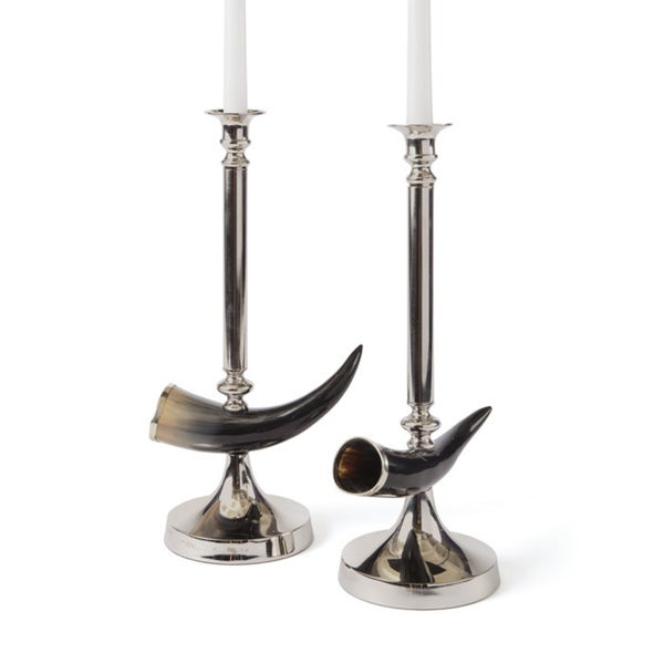 Hip Vintage Pair of Otis Candlesticks