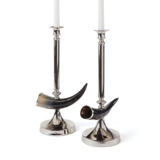Hip Vintage Pair of Otis Candlesticks