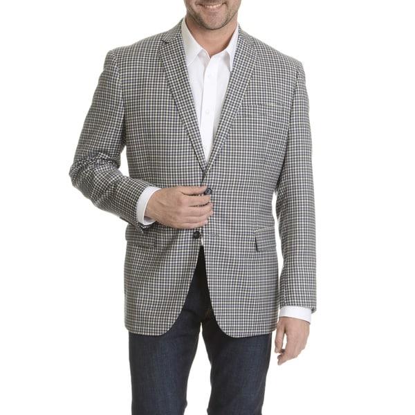 Daniel Hechter Men's Fine Wool Check Plaid Sport Coat
