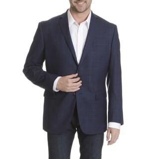 Daniel Hechter Men's Fine Wool Plaid Sport Coat