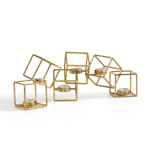 Danya B. Sparkling Gold Six Cube Candle Holder 18354682