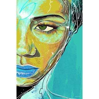 Maxwell Dickson 'Blue Tranquility' Modern Canvas Wall Art