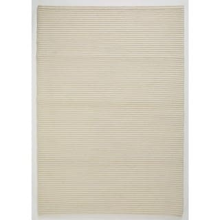 M.A.Trading Indo Hand-knotted Manchester White Rug (4'6 x 6'6)