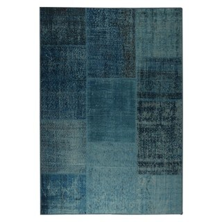 M.A.Trading Indo Hand-made Konya Turquoise Rug (4'0 x 6'0)
