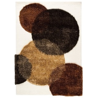 M.A.Trading Indo Hand-tufted Circle of Life White-brown Rug (9' x 12')