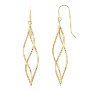 Sterling Essentials 14K Gold Mobile Drop Earring