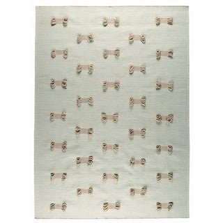 M.A.Trading Indo Hand-tufted Napoli White Rug (4'6 x 6'6)