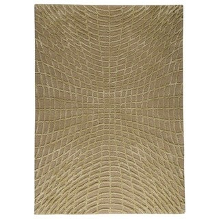 M.A.Trading Indo Hand-tufted Vermont Beige Rug (4'6 x 6'6)