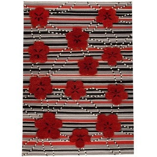 M.A.Trading Indo Hand-woven Kingston Red Rug (9' x 12')