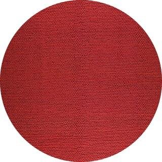 M.A.Trading Indo Hand-woven Ladhak Fd-04 Orange Rug (6'6 Round)