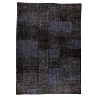 Indo Hand-woven Lina Dark Blue Rug (5'6 x 7'10)