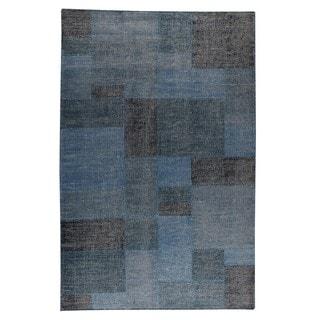 Indo Hand-woven Lina Turquoise Rug (8'3 x 11'6)