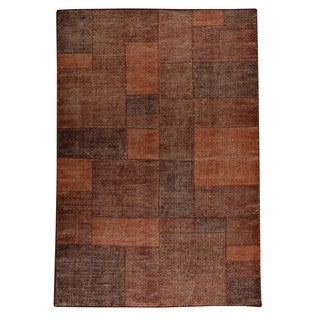 Indo Hand-woven Lina Terra Rug (5'6 x 7'10)
