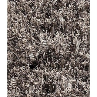 Indo Hand-woven Solo Sorso Light Grey Rug (7'10 x 9'10)