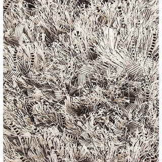 M.A.Trading Indo Hand-woven Solo Sorso Silver Rug (5'2 x 7'6)
