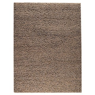 Indo Hand-woven Square Brown Rug (3' x 5'4)