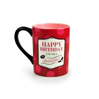 Kityu Gift Happy Birthday To You Beautiful 16-ounce Ceramic Mug