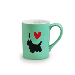 Kityu Gift 'I Love Dogs' Green Ceramic 16-ounce Mug