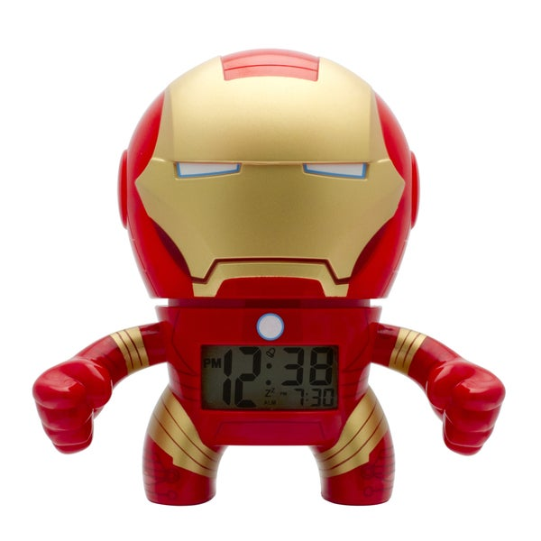 BulbBotz Marvel Kid's Light Up Iron Man Clock
