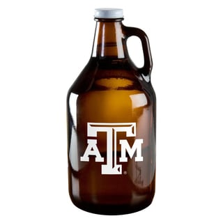 Texas A and M Aggies 64-ounce Amber Glass Growler