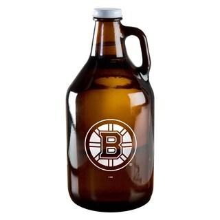 Boston Bruins 64-ounce Amber Glass Growler