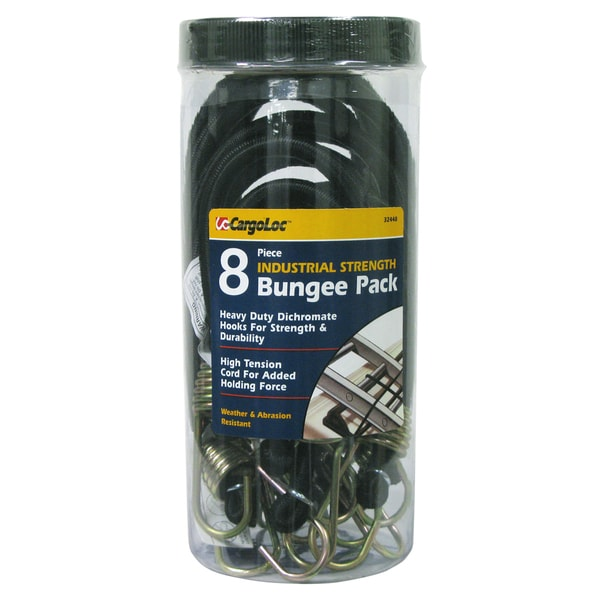 Allied International 32448 Industrial Bungee Pack 8 Piece Set