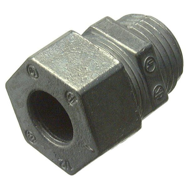 "Halex 16912B 1/2"" Zinc Strain Relief Cord Connector"