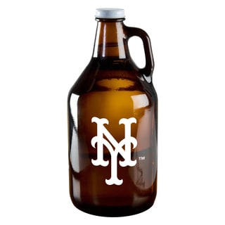 New York Mets 64-ounce Amber Glass Growler