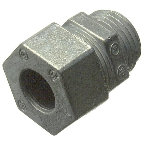 "Halex 16923B 3/4"" Zinc Strain Relief Cord Connector"