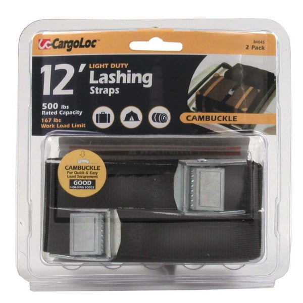 Allied International 84045 12' Lashing Straps 2-count